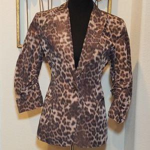 Calvin Klein Cheetah Print Blazer - Medium